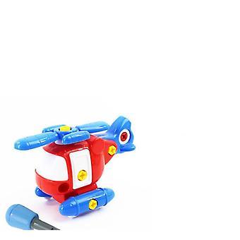 Färgglada Pvc bultar och nötter, monterad leksaksbil - handgjorda pedagogiska