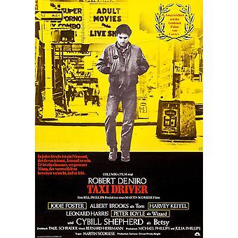 מונית הנהג הגרמני פוסטר אמנות רוברט דה נירו 1976 סרט פוסטר הדפס מאסטר