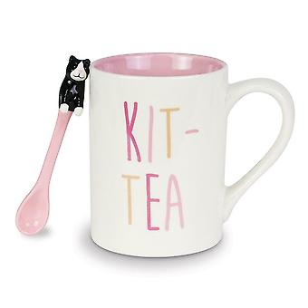 Our Name Is Mud Kit-tea Mug With Spoon Set