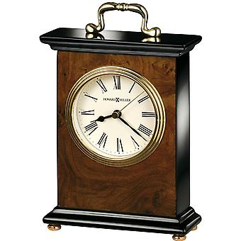 Howard Miller Berkley Tabletop Clock - Black/Brown/Gold