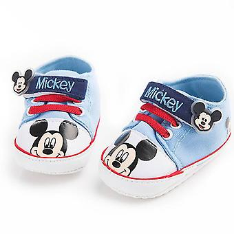 Cartoon Mickey Printed- Hook And Loop Type Baby Casual Shoes