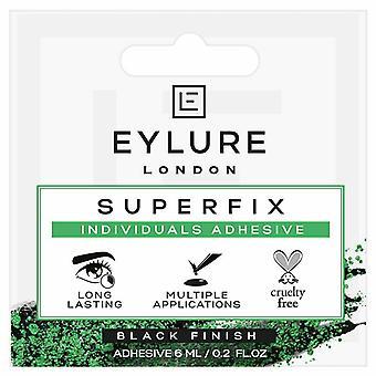 アイルアスーパーフィックス個々の偽のラッシュ接着剤 - 6mlブラックフィニッシュ - 残酷無料