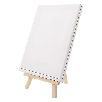 Mini Canvas And Natural Wood Easel Set For Art Painting & Drawing Craft