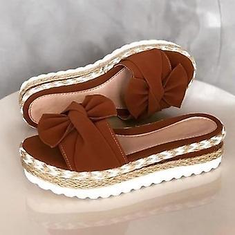 נעלי בית Vrouwen שקופיות סנדלן בוג-knoop נעלי בית פלטפורמה