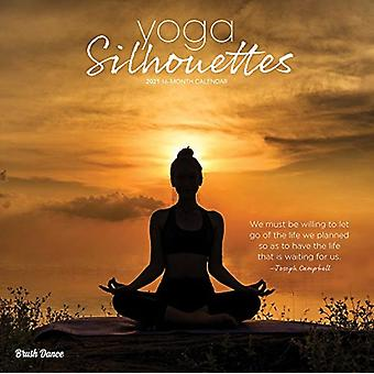 Yoga Silhouettes 2021 Square Brush Dance Calendar by Browntrout