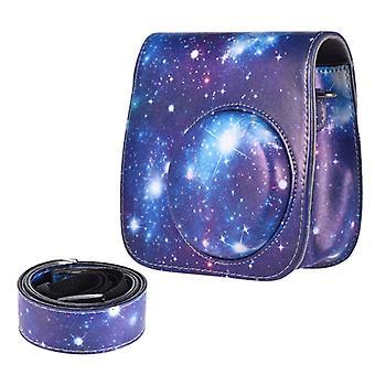 Universe Patroon Full Body Camera PU Lederen Tas met riem voor FUJIFILM instax mini 9 / mini 8+ / mini 8