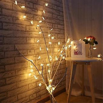 Led Garland String Lights Snowflakes String Fairy Lights Hanging Ornaments