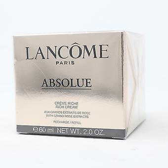 Lancome Absolue Rich Cream Refill con grandi estratti di rosa 2oz / 60ml nuovo con scatola