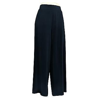 G.I.L.I. Women's Petite Pants Jetsetter Side Slit w/Pockets Blue A307129