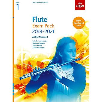 Pacote de Exame de Flauta 2018-2021, Abrsm Grade 1 Paperback