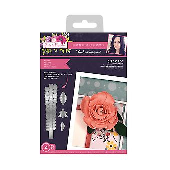 Crafter's Companion Butterflies and Blooms Metal Die Peony
