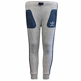 Adidas Junior Grey Blue All Over Print Cotton Polyester Track Pants S96002 RW110