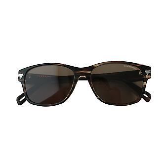 G- Star Raw Thin Huxley Stripe Brown Acetate Men UV Shades Sunglasses GS605S 201