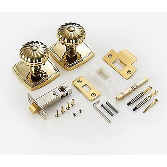 Shiny Gold Pvd Keyless Lock Knob
