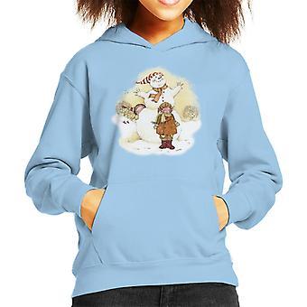 ホリーホビークリスマススノーマンキッド&アポ;sフードスウェットシャツ