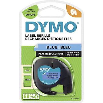 DYMO LT Labelling tape Tape colour: Ultra blue Font colour: Black 12 mm 4 m