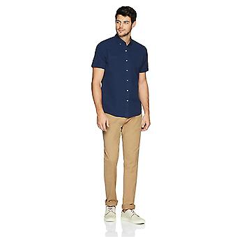 Goodthreads Men's Standard-Fit Kurzarm Seersucker Shirt, solide Marine, Med...