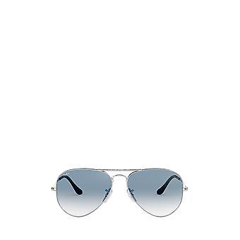 راي بان RB3025 فضة النظارات الشمسية للجنسين