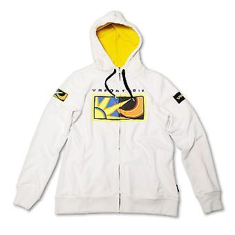 Rossi 46 White Ladies Zip Fleece Hoodie