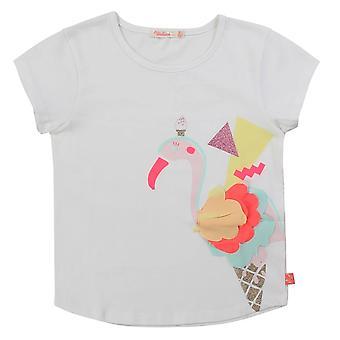 Billieblush tytöt flamingo print valkoinen t-paita u15720/10b