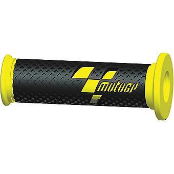 MotoGP Handlebar Grips Black Yellow CBR R1 R6 Fireblade GSXR RS125 YZF