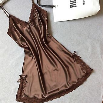 ملابس النوم الحرير نايتي فستان النوم، الملابس الداخلية ثوب النوم قبالة ملابس النوم الكتف