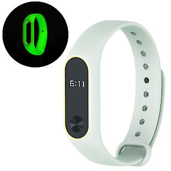 Luminous Double Color TPE Watch Band Wrist Strap for XIAOMI Miband 2