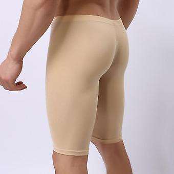 Men's Pijamas Ice Silk Ultra-thin Transparent Penis