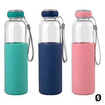 Water bottle Bewinner Glass Silicone