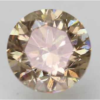 Cert 0.96 Karaat Fancy Brown VVS2 Ronde Brilliant Enhanced Natural Diamond 5.86mm
