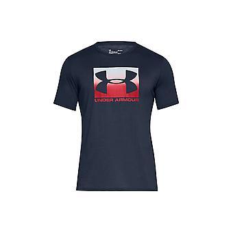 アンダーアーマーボックススポーツスタイル1329581408ユニバーサルオールイヤーメンズTシャツ