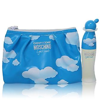 Cheap & Chic Light Clouds Gift Set By Moschino 1.7 oz Eau De Toilette Spray with Free Cosmetic Pouch