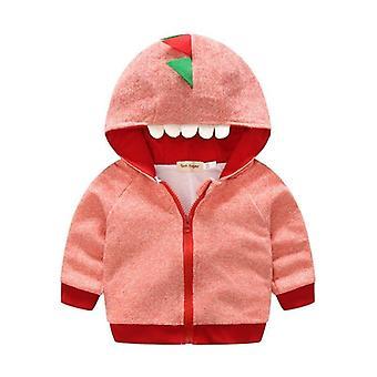 Sudadera con cremallera de algodón otoño primaveral, tops con capucha para niños