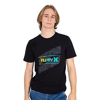 Hurley Men's T-Shirt ~ Everyday Wash Slashed black