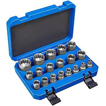 tectake Bitholder med gear lock med 19 dele - blå
