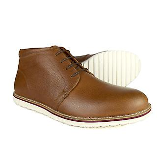 Miel marrón Formal Chukka botas cinta roja cirugía hombres de