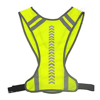 Eflective Vest High Visibility Unisex Outdoor Running Cycling Safety Vest Adjustable