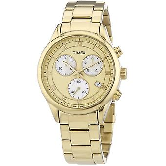 Timex T2P159 - Women's wristwatch - stainless steel - color: gold
