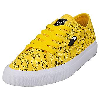 DC Shoes Bob's Burgers Manual Womens Fashion Trainers in Mustard