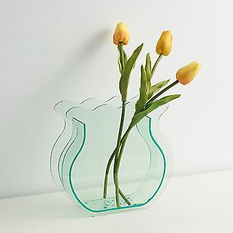Transparent acrylic vase hydroponic flower device for home decoration