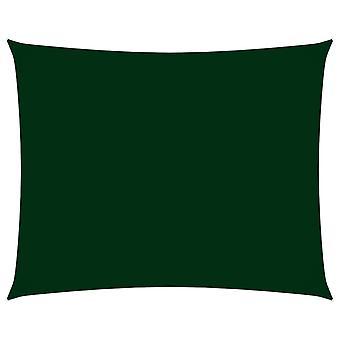 vidaXL الظل الشراع أكسفورد النسيج مستطيلة 2.5x3.5 م الأخضر الداكن