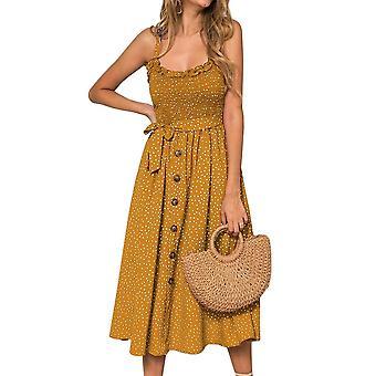 Summer Polka-dot Dress, Beach Dresses, Bow Strapless Clothes