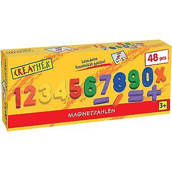 FengChun 451.418.9 Creathek Magnet Zahlen und Zeichen, 48-teilig
