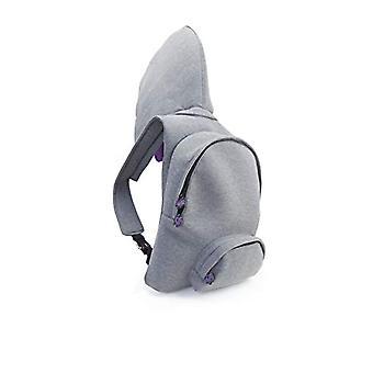 MorikukkoMorikukko Hooded Backpack Grey PurpleUnisex - AdultZainiGrigio (Grey Purple)33x8x40 Centimeters (W x H x L)