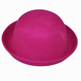 Girl's Wool Cute Bowler Cap, Derby Party Street Show Hats