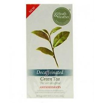 Heath & Heather - Decaffeinated Green Tea 20 Bag
