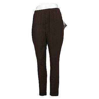 Kobiety z kontrolą kobiet regularne dopasowanie pull-on legginsy dzianiny brązowy A235949