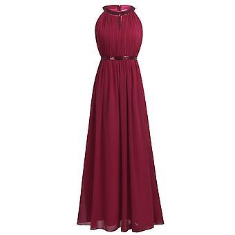 Mode Frauen Chiffon lange Brautjungfer Kleider