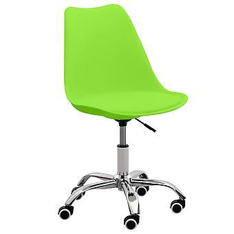 vidaXL Bürostühle 2 Stk. Grün Kunstleder