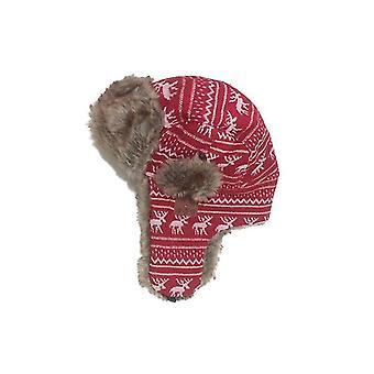 Červený vzor bluetooth zimné trapper ushanka vetruodolný klobúk beanie ruské klobúky pre mužov a ženy outdoorové lyžovanie šport x3396